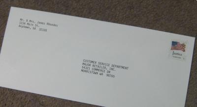 Sending a business an appreciation letter