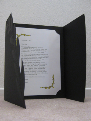Effective use of certificate holder for letter